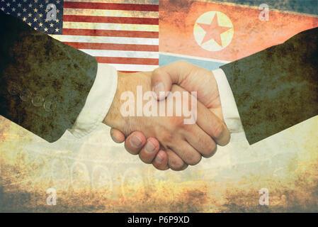 USA - North Korea peace concept - Stock Photo