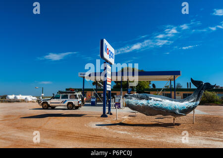 Famous Nullarbor Roadhouse at Eyre Highway. - Stock Photo