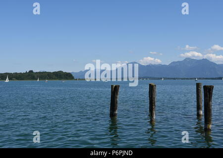 Chiemsee bei Prien in Oberbayern - Stock Photo