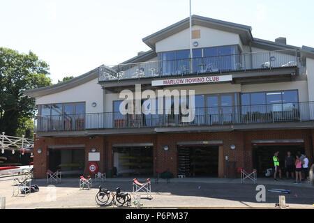 Marlow Rowing Club, Marlow, Buckinghamshire - Stock Photo