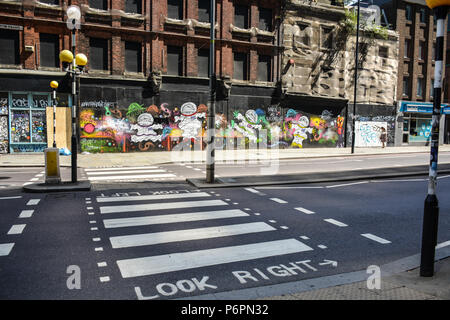 The roadcrossing in London, England. - Stock Photo