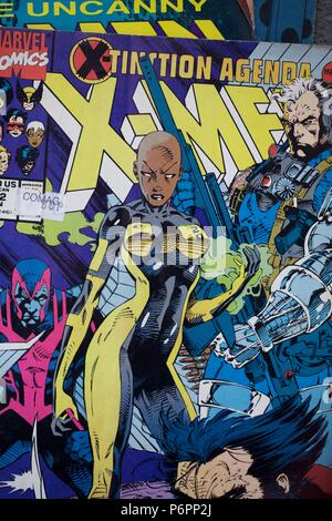 The X-Men comic book published by Marvel Comics - Stock Photo