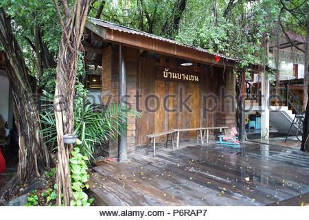 banbangkhen after rain in the afternoon bangkok,thailand 13 may 2018 - Stock Photo