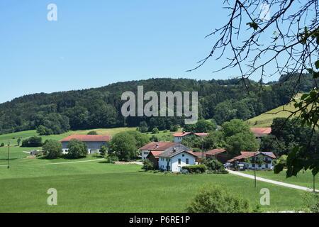 Landschaft bei Bad Endorf Chiemgau - Stock Photo