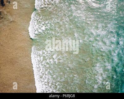 Aerial view of beautiful ocean in porto - Stock Photo