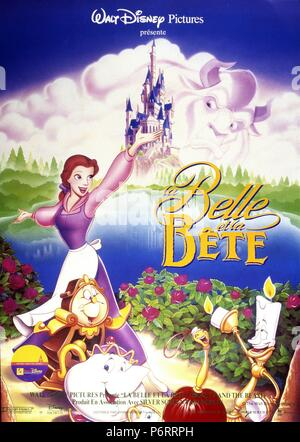 Beauty and the Beast  Year : 1991 USA  Director : Gary Trousdale Kirk Wise Animation Poster (Fr) - Stock Photo