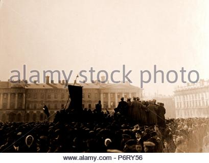 May 1st 1917, Petrograd, Saint Petersburg, Russia. History of the Russian Revolution. - Stock Photo