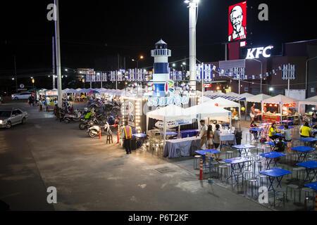 CHIANG MAI, THAILAND - JULY 2 2018:  Mee Choke Plaza. Modern Plaza in Urban fringe of chiangmai city. - Stock Photo