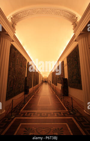 Artworks inside the State Hermitage Museum in St. Petersburg, Russia - Stock Photo