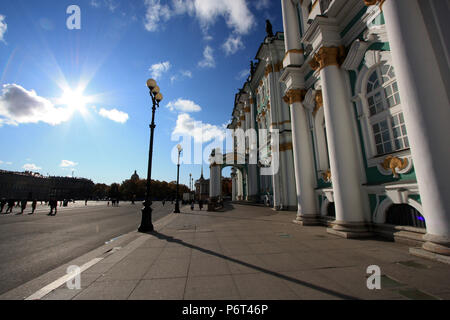 Exterior view of the Winter Palace in St. Petersburg, Russia - Stock Photo