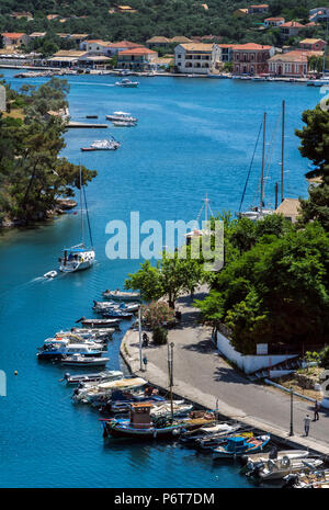 Entering the Port of Gaios, Paxos. - Stock Photo