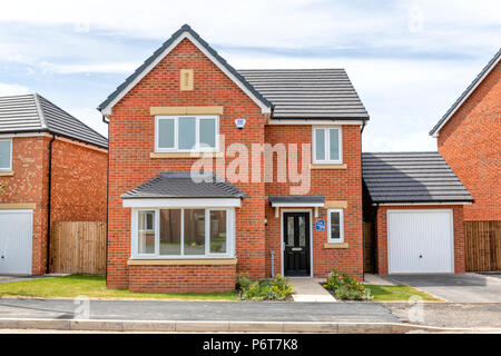 Newly constructed detached house - Stock Photo