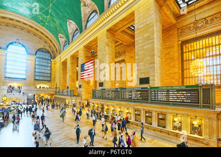 New York, USA- September 05, 2017 :  Grand Central Terminal- railroad terminal at 42nd Street and Park Avenue in Midtown Manhattan in New York City, U - Stock Photo