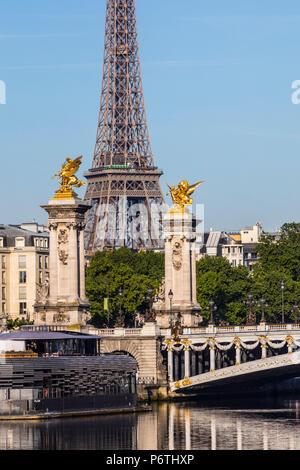 Eiffel Tower, Paris, France - Stock Photo