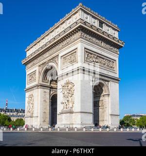Arc de Triomphe, Paris, France - Stock Photo