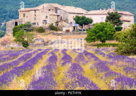 A farmhouse near Banon, Provence, France - Stock Photo