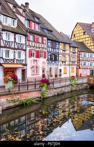 The Little Venice, Colmar, Alsatian Wine Route, France - Stock Photo