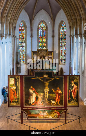The Isenheim Altarpiece in the Unterlinden Museum, Colmar, Alsatian Wine Route, France - Stock Photo