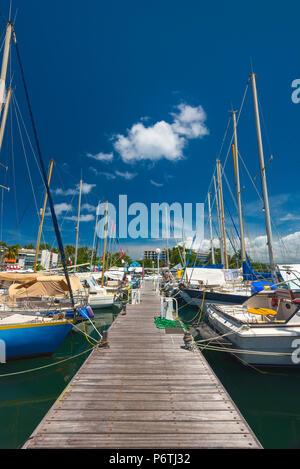 Caribbean, Martinique, Pointe du Bout, Marina - Stock Photo