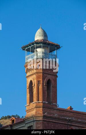 Georgia, Tbilisi, Old Town, Tbilisi Mosque Minaret - Stock Photo