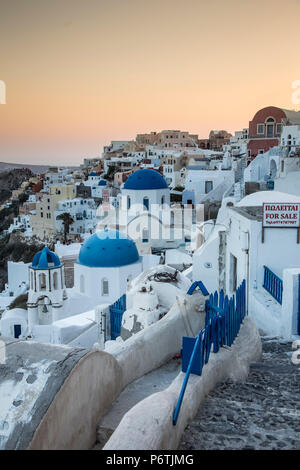 Oia, Santorini (Thira), Cyclades Islands, Greece - Stock Photo