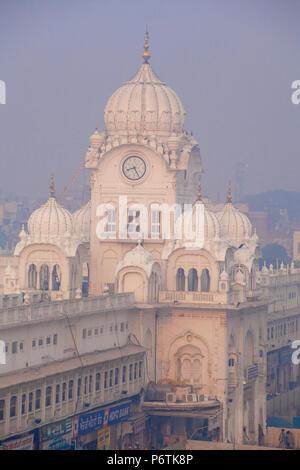 India, Punjab, Amritsar, The Harmandir Sahib,  known as The Golden Temple - Stock Photo