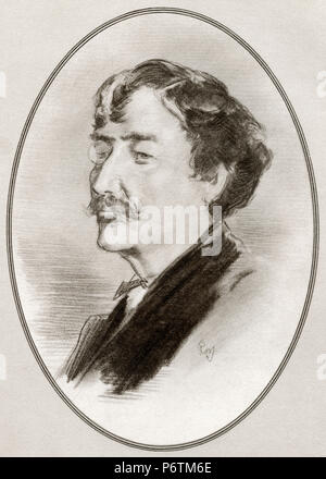 James Abbott McNeill Whistler, 1834 - 1903.  American artist.  Illustration by Gordon Ross, American artist and illustrator (1873-1946), from Living Biographies of Great Painters. - Stock Photo