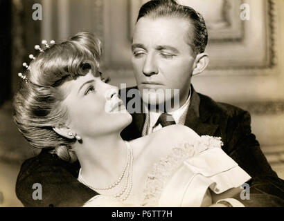 Actors Bing Crosby and Joan Fontaine in the movie The Emperor Waltz, 1948 - Stock Photo