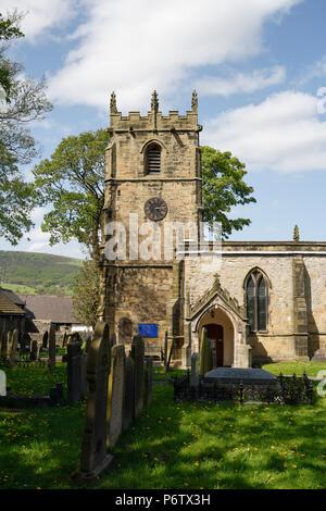 Castleton Church, in Derbyshire England UK - Stock Photo