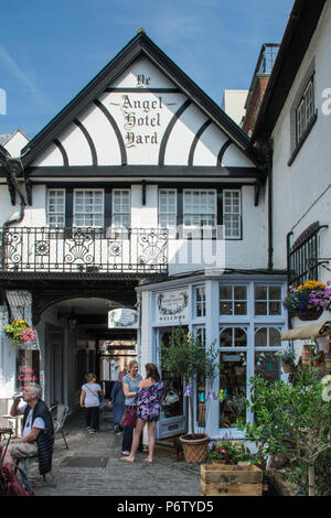 craft shop guildford guildford historic high and shoppers on a busy 1645