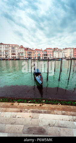 View of Canal in Venice, Italy. Venice is a popular tourist destination of Europe. - Stock Photo