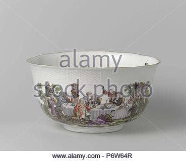 Come, multicolor painted with a performance to 'A Midnight Modern Conversation' by William Hogarth. - Stock Photo