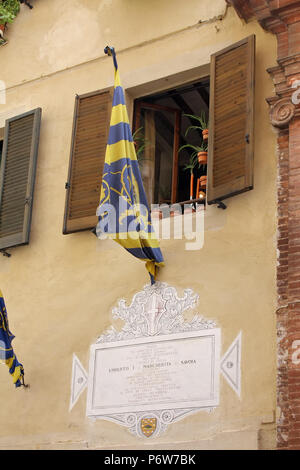 Banners as part of Palio di Siena, Tuscany - Italy