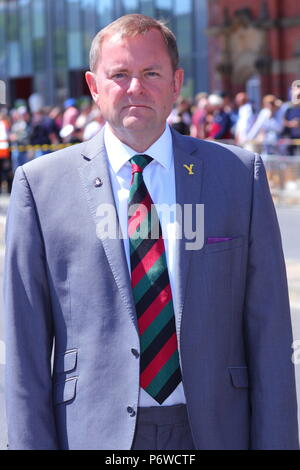 Sir Gary Verity, the CEO of Welcome To Yorkshire attending the Armed Forces Day Event in Scarborough - Stock Photo