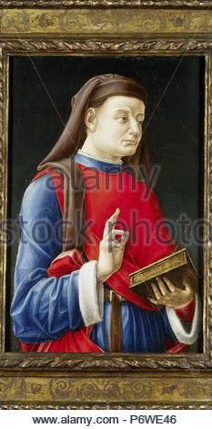 Saint Cosmas, or Damian, attributed to Bartolommeo Vivarini, 1460 - 1480. - Stock Photo