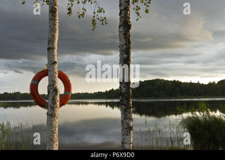 Safety ring, Safety on the water - Stock Photo