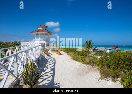 Cuba, Villa Clara Province, Jardines del Rey archipelago, Cayo Santa Maria, Playa Santa Maria - Stock Photo