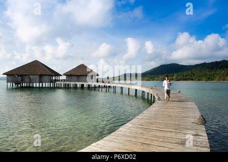 Asia, Cambodia, Sihanoukville, Preah Sihanouk, Koh Rong, Song Saa island resort, Vista restaurant. PR - Stock Photo