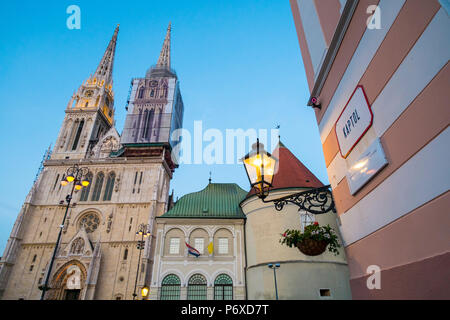 Cathedral of the Assumption of Mary, Zagreb, Croatia - Stock Photo