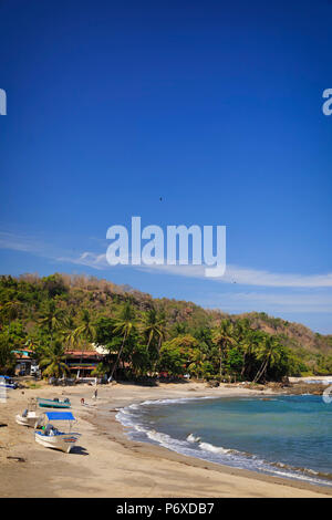Costa Rica, Guanacaste, Nicoya Peninsula, Montezuma, Montezuma Beach - Stock Photo