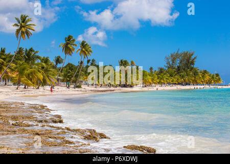 Dominican Republic, Punta Cana, Parque Nacional del Este, Saona Island, Mano Juan, a picturesque fishing village - Stock Photo