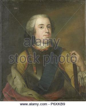 Portrait of William IV, Prince of Orange, Anonymous, c. 1745. - Stock Photo