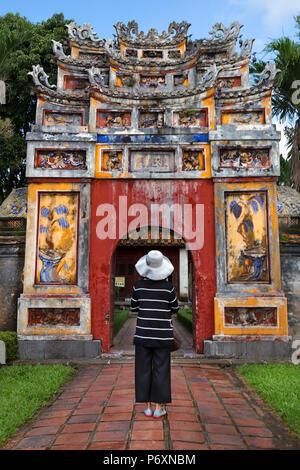 Door / entrance of Imperial City, Hue , Vietnam - Stock Photo