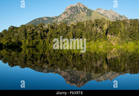 South America, Argentina, Patagonia, Rio Negro, Nahuel Huapi National Park, Lago Escondido - Stock Photo