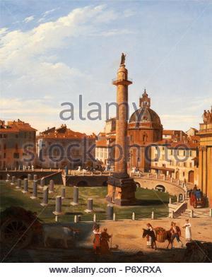 A View of Trajan's Forum, Rome, Italy Charles Lock Eastlake, 1793-1865, British. - Stock Photo