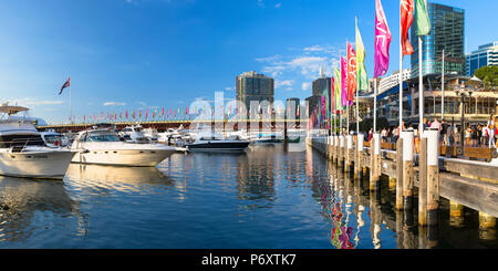 Darling Harbour, Sydney, New South Wales, Australia - Stock Photo