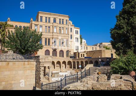 Azerbaijan, Baku, The Old Town - Icheri Sheher, 17th century Market Square - Stock Photo