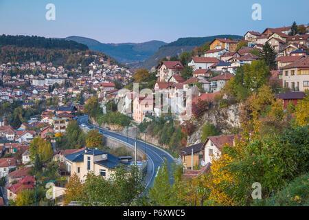 Bosnia and Herzegovina, Sarajevo, City  view - Stock Photo
