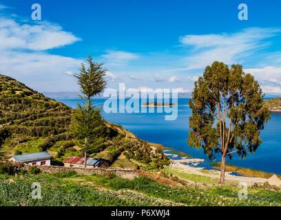 Island of the Sun, Titicaca Lake, La Paz Department, Bolivia - Stock Photo