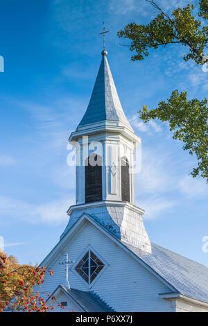 Canada, Quebec , Capitale-Nationale Region, Charlevoix, Saint Joseph de la Rive,  village church